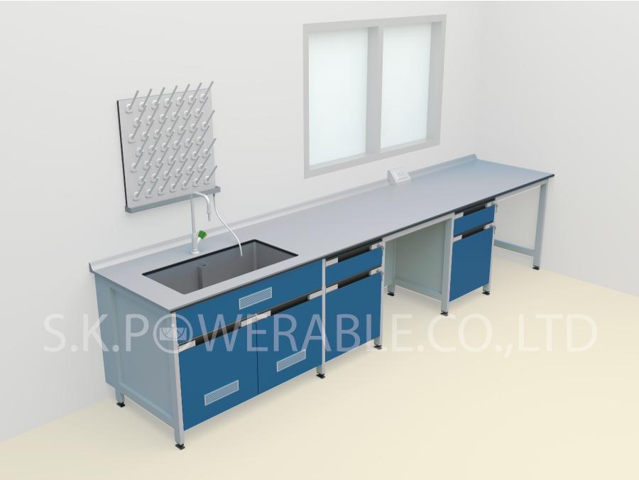 โต๊ะปฎิบัติการโครงสร้างไม้และเหล็ก